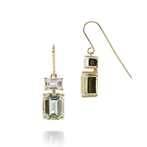 Nicole Landaw Beryl and Sapphire Earrings | Quadrum Gallery