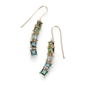 Nicole Landaw Mixed Color Tourmaline Earrings | Quadrum Gallery