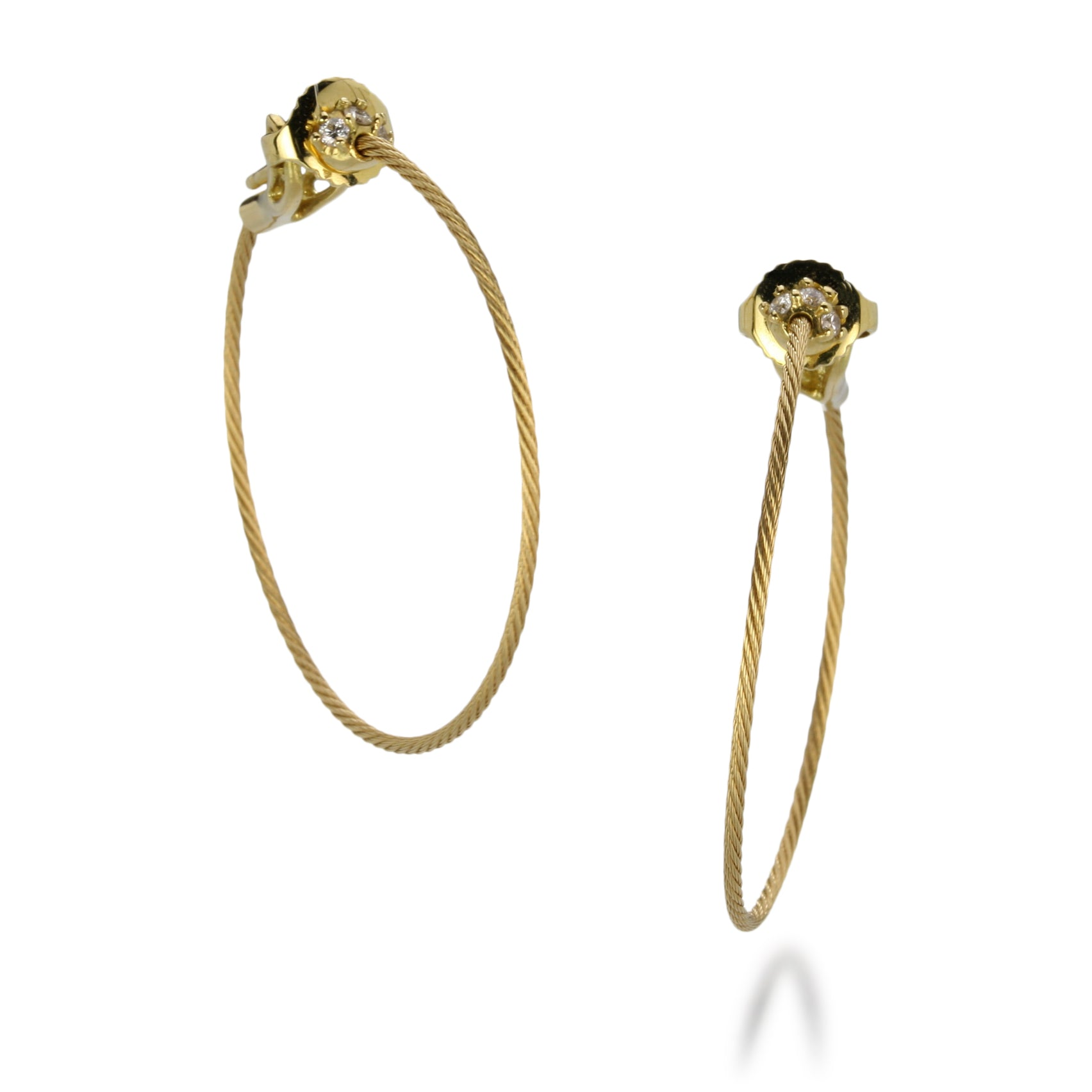 Paul Morelli Wire Hoops with Diamonds | Quadrum Gallery