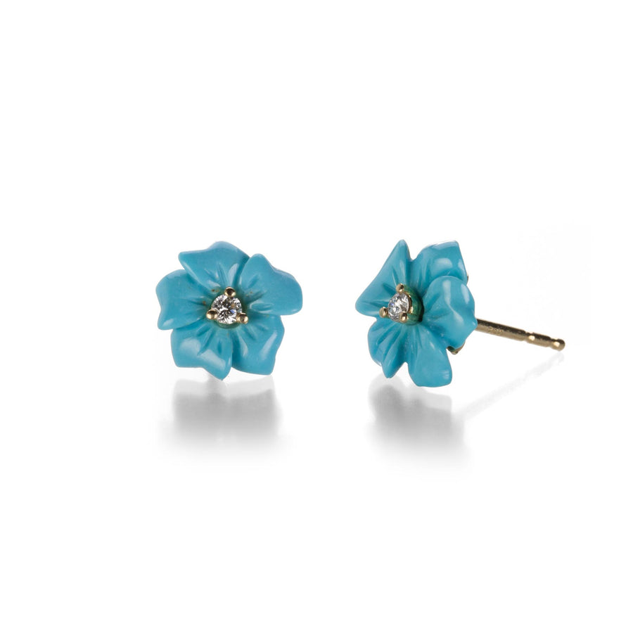 Turquoise Flower Studs