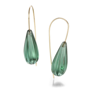 Rosanne Pugliese Green Quartz Drop Earrings | Quadrum Gallery