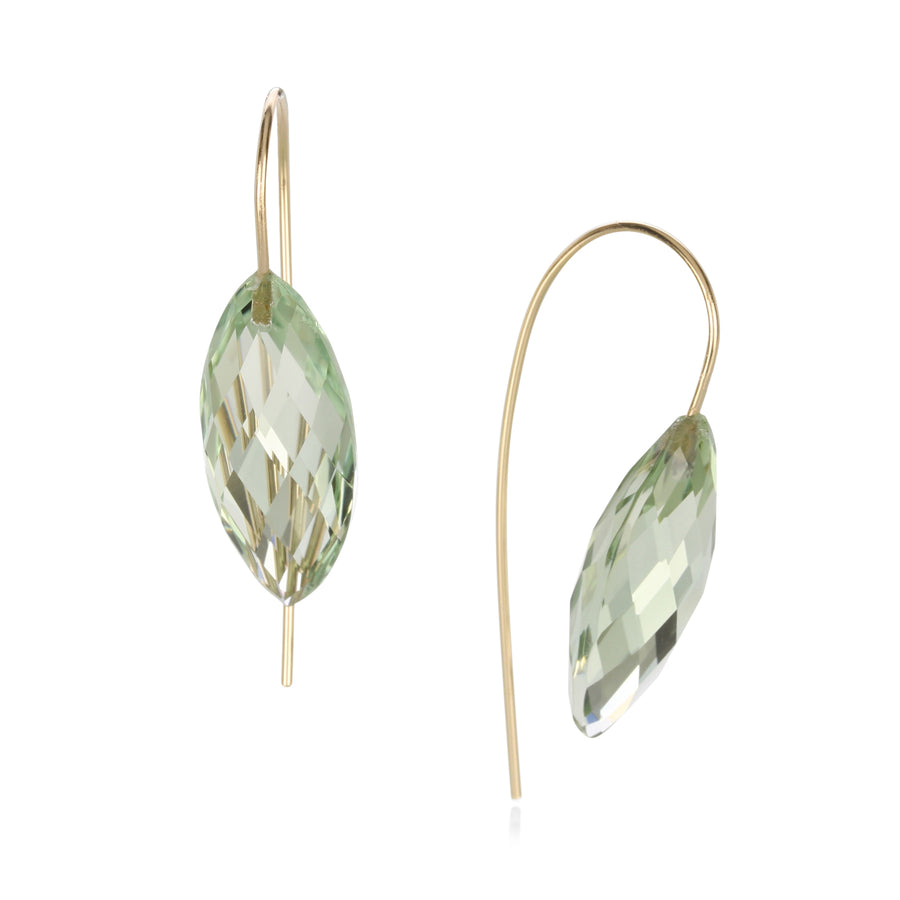 Rosanne Pugliese Green Quartz Navette Earring | Quadrum Gallery