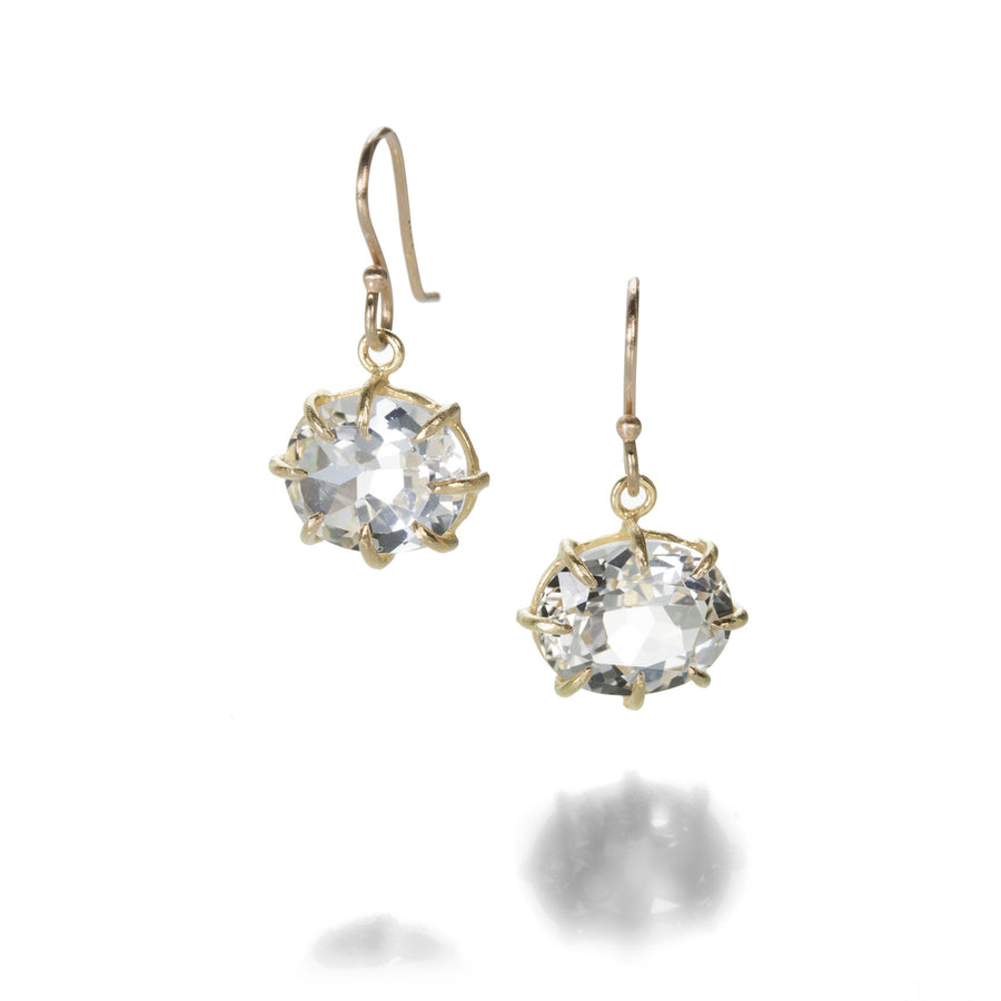 Rosanne Pugliese Faceted White Topaz Earrings | Quadrum Gallery