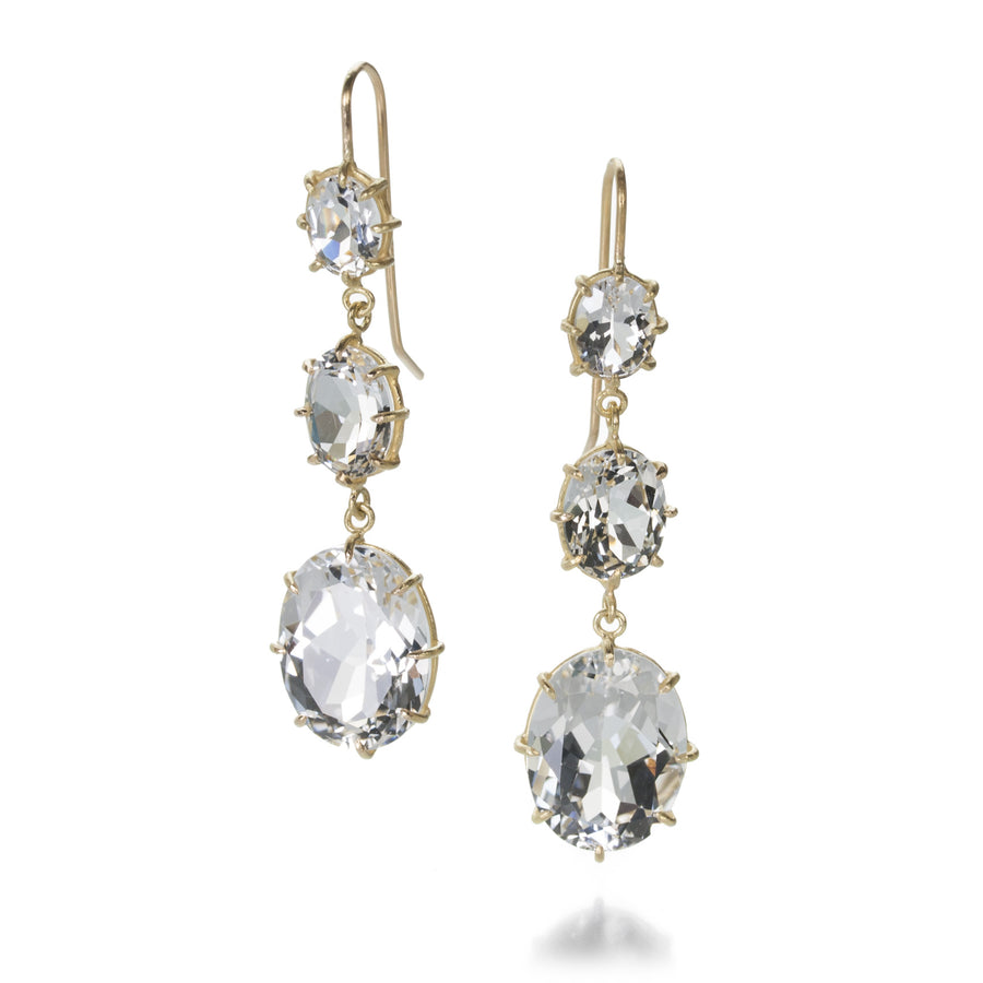 Rosanne Pugliese White Topaz Three Drop Earring | Quadrum Gallery