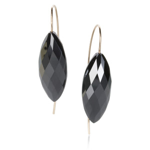 Rosanne Pugliese Hematite Navette Earrings | Quadrum Gallery