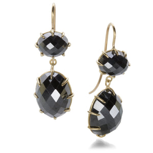 Rosanne Pugliese Large Double Hematite Drop Earrings | Quadrum Gallery