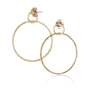 Rosanne Pugliese Double Circle Drop Earrings | Quadrum Gallery