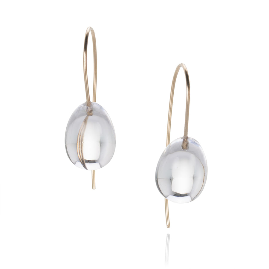 Rosanne Pugliese Rock Crystal Egg Earrings | Quadrum Gallery