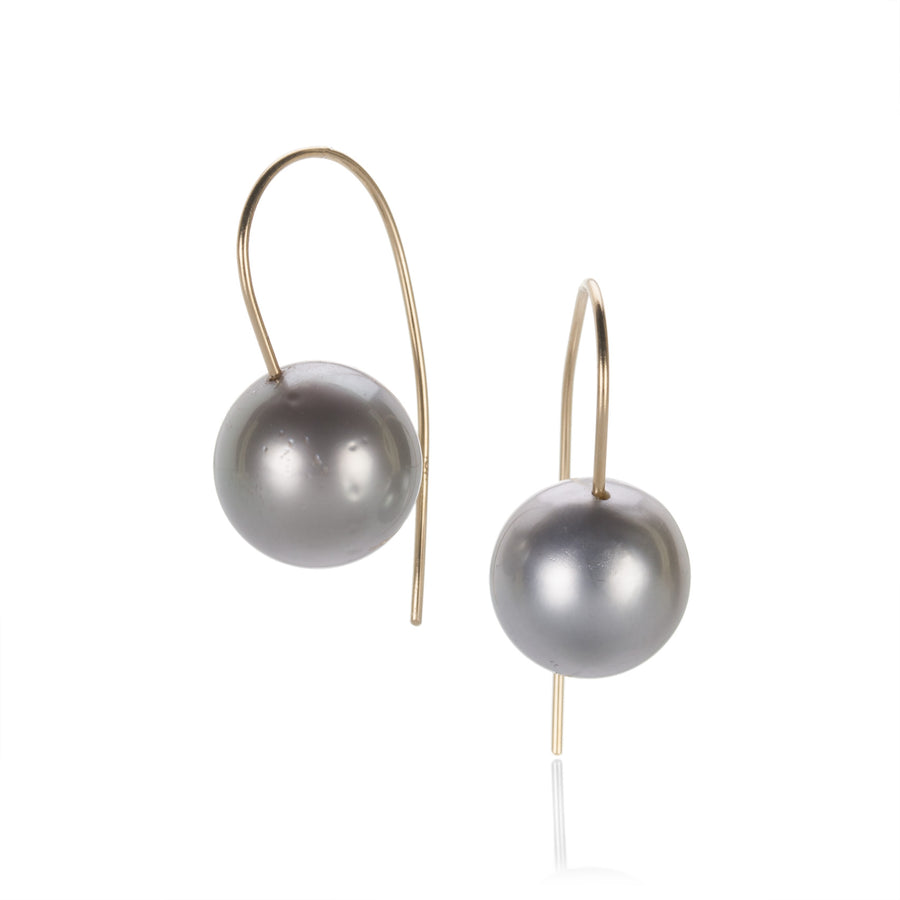 Rosanne Pugliese Tahitian Gray Pearl Earrings | Quadrum Gallery