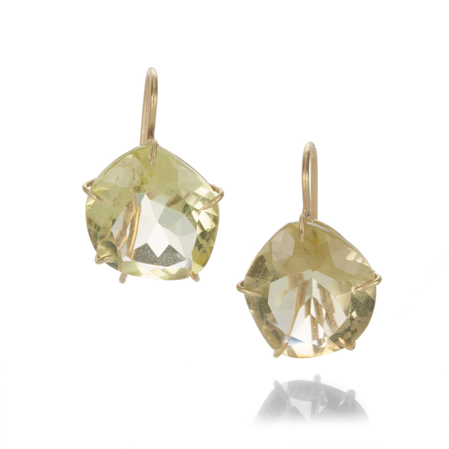 Rosanne Pugliese Asymmetrical Faceted Citrine Earrings | Quadrum Gallery