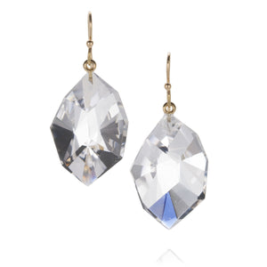 Rosanne Pugliese Large Faceted Rock Crystal Earrings | Quadrum Gallery
