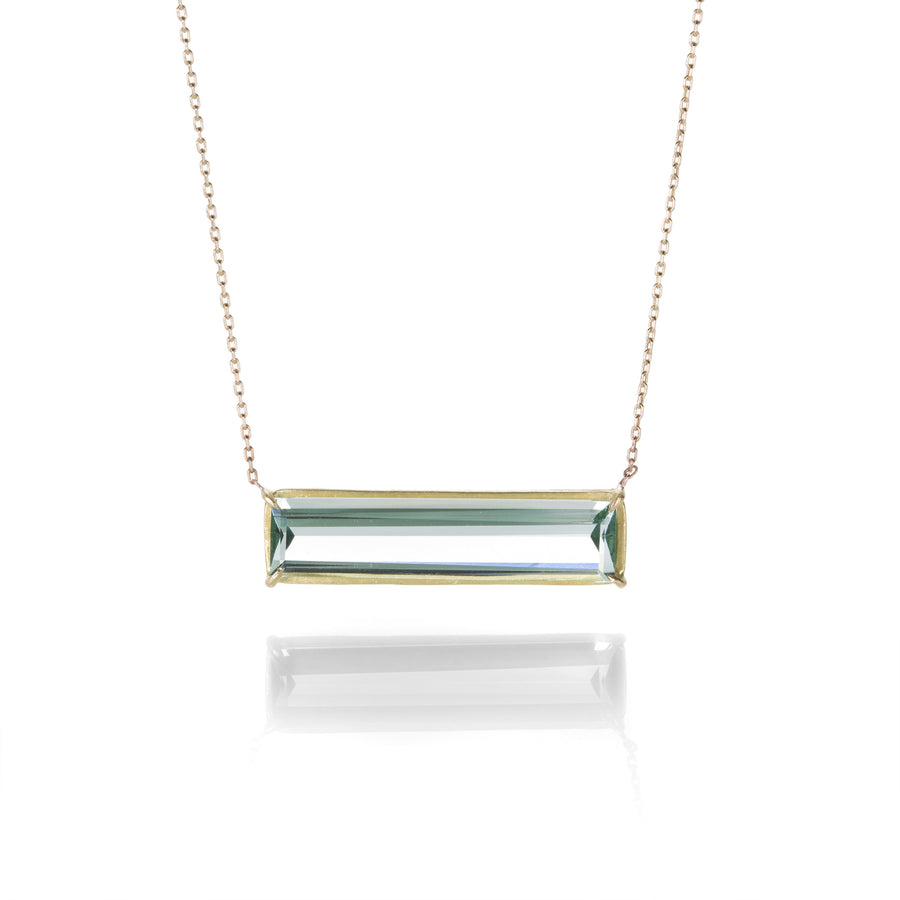 Rosanne Pugliese Green Amethyst Bar Necklace | Quadrum Gallery