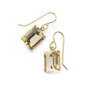 Rosanne Pugliese Emerald Cut Champagne Citrine Earrings | Quadrum Gallery