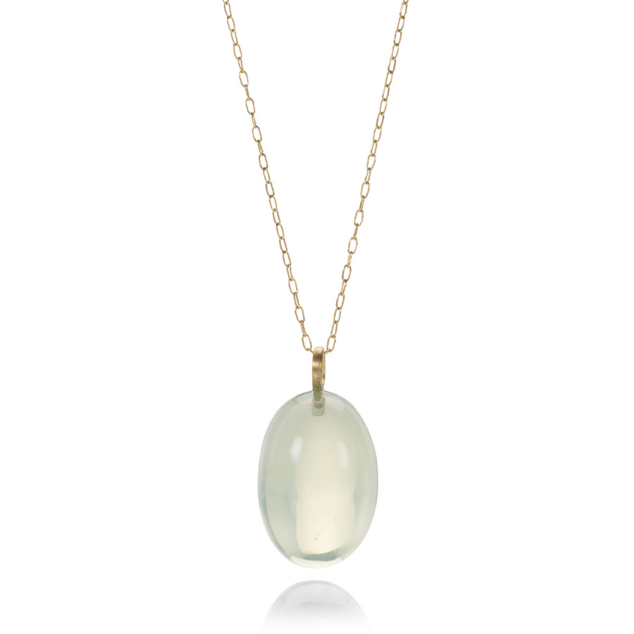 Rosanne Pugliese Sage Moonstone Egg Pendant Necklace | Quadrum Gallery