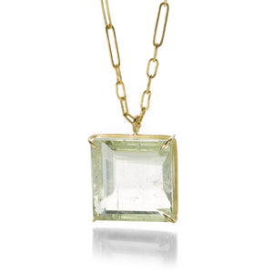 Rosanne Pugliese Emerald Cut Pale Green Beryl Necklace | Quadrum Gallery