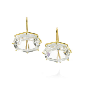 Rosanne Pugliese Octagon White Topaz Earrings | Quadrum Gallery
