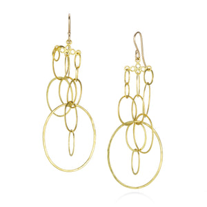 Rosanne Pugliese Handmade Oval Link Sculpture Earrings | Quadrum Gallery