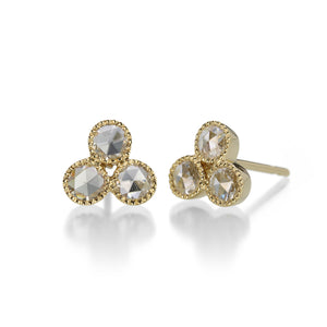 Sethi Couture Three Stone Stud Earrings | Quadrum Gallery