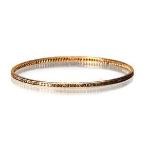 Sethi Couture Brown Diamond Channel Set Bangle | Quadrum Gallery