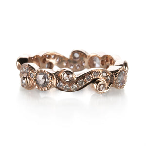 Sethi Couture Brown Diamond Scroll Band | Quadrum Gallery