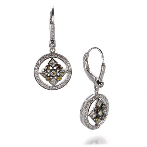 Sethi Couture Diamond Art Deco Earrings | Quadrum Gallery