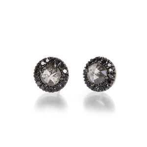 Sethi Couture Opaque Rose Cut Diamond Studs | Quadrum Gallery