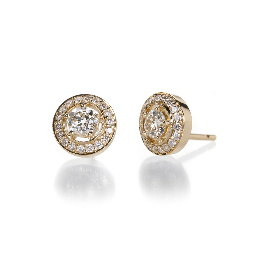 Sethi Couture Old Mine Cut Stud Earrings | Quadrum Gallery