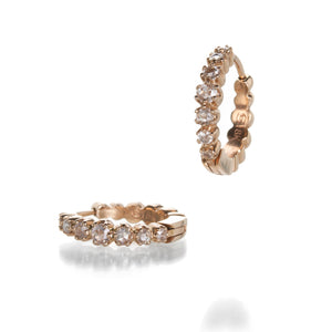 Sethi Couture Small Rose Cut Diamond Hoops | Quadrum Gallery