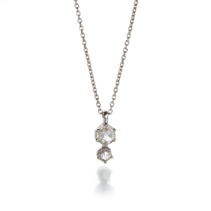 Sethi Couture White Double Rose Cut Diamond Necklace | Quadrum Gallery