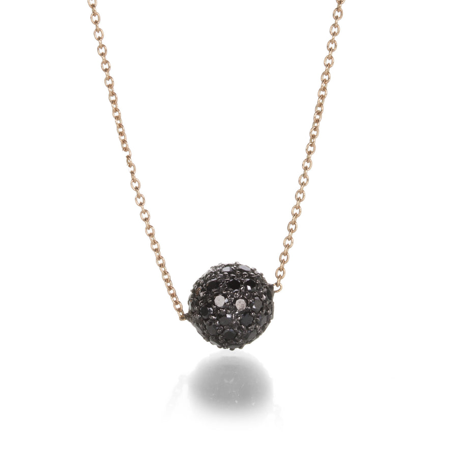 Sethi Couture Black Diamond Pave Ball Necklace | Quadrum Gallery