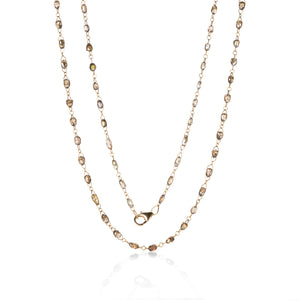 Sethi Couture Champagne Diamond Chain Necklace | Quadrum Gallery