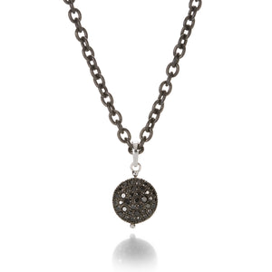 Sethi Couture Black and White Diamond Disc Necklace | Quadrum Gallery