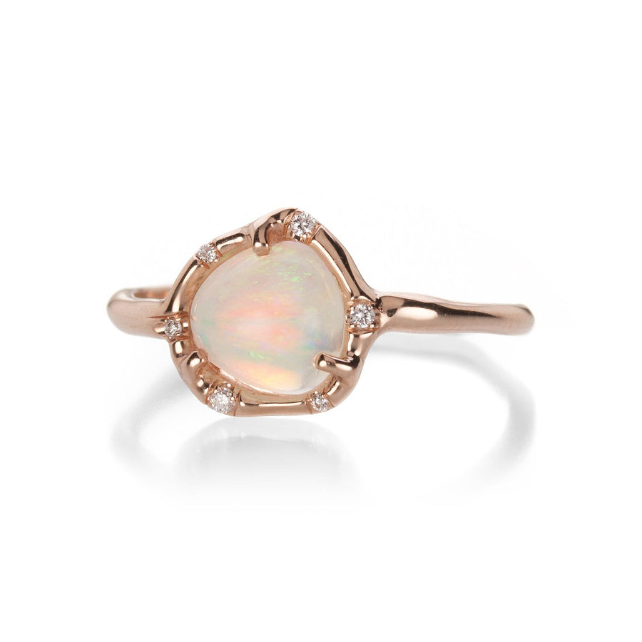 Cosmic Light Opal Ring