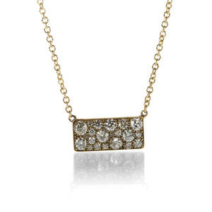 Single Stone Diamond Cobblestone Necklace | Quadrum Gallery