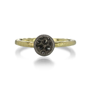 Todd Pownell Concave Disc Black Diamond Ring | Quadrum Gallery