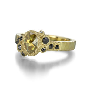 Todd Pownell Yellow Oval Inverted Diamond Ring | Quadrum Gallery