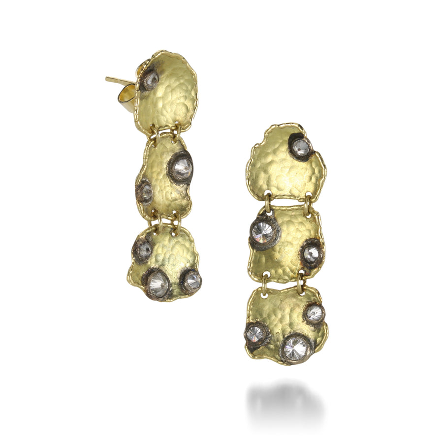 Todd Pownell Hammered Waterfall Earrings | Quadrum Gallery