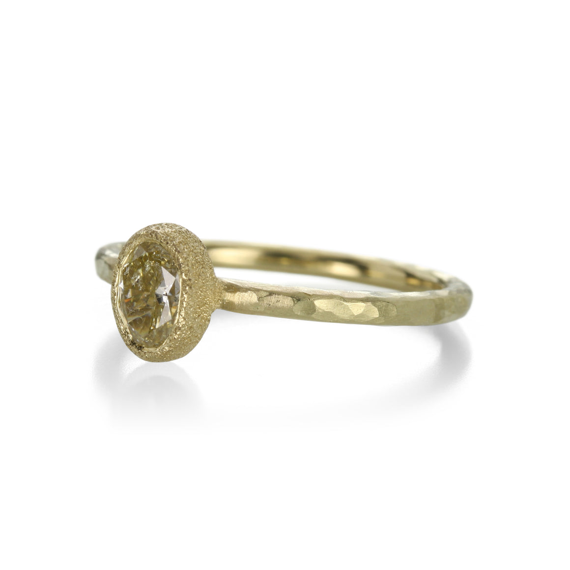 Todd Pownell Oval Yellow Diamond Ring | Quadrum Gallery