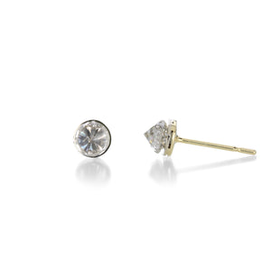 Todd Pownell Round Invert Set Diamond Stud Earrings | Quadrum Gallery