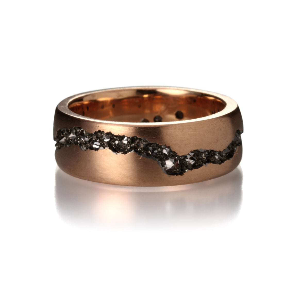 Todd Pownell Smooth Rose Gold Fissure Band | Quadrum Gallery