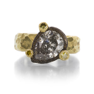 Todd Pownell Large Pear Shaped Diamond Ring | Quadrum Gallery