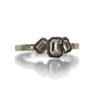 Todd Pownell Triple Emerald Cut Ring | Quadrum Gallery