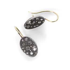 Todd Pownell Oval Inverted Diamond Drop Earrings | Quadrum Gallery