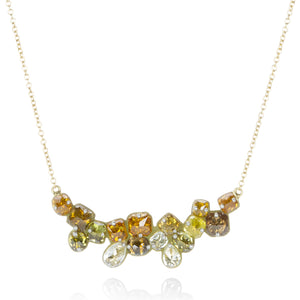 Todd Pownell Autumn Colored Diamond Necklace | Quadrum Gallery