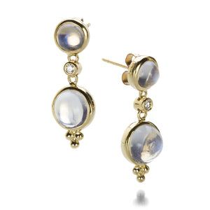 Temple St. Clair Double Moonstone Drop Earrings | Quadrum Gallery