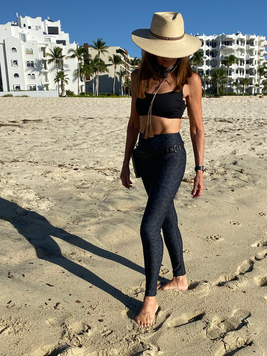 Testing Our Legging on a Beach Walk in Los Cabo's
