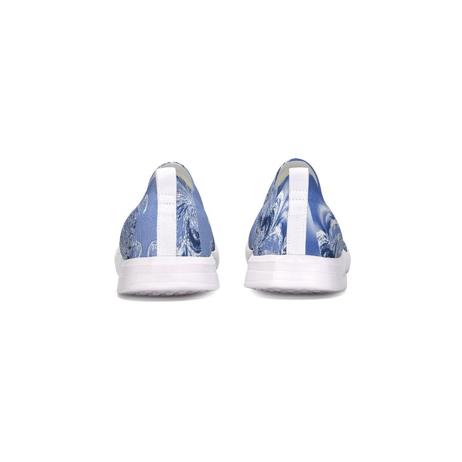 Blue Fractal Flyknit Slip-on Shoe