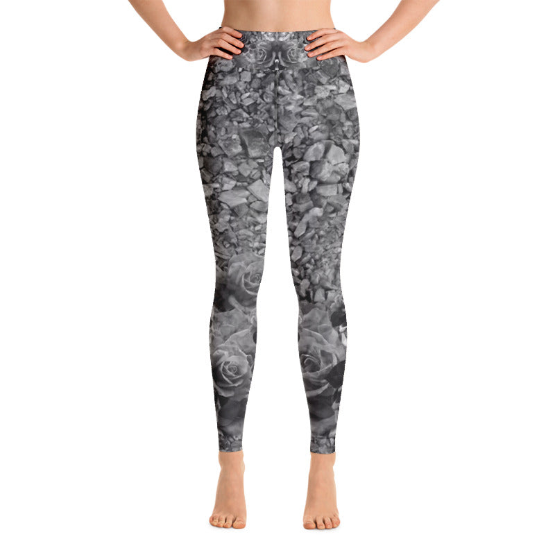 Skulls, Rocks and Roses Yoga Leggings