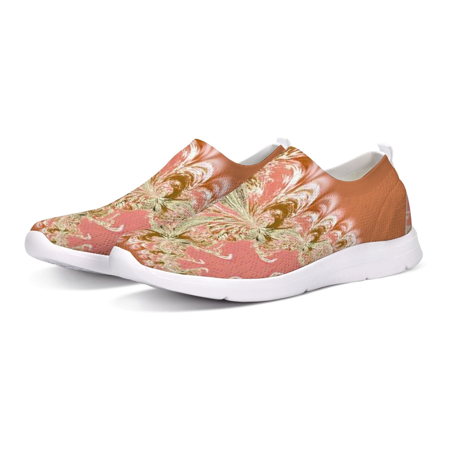 Pink Fractal Flyknit Slip-on Shoe