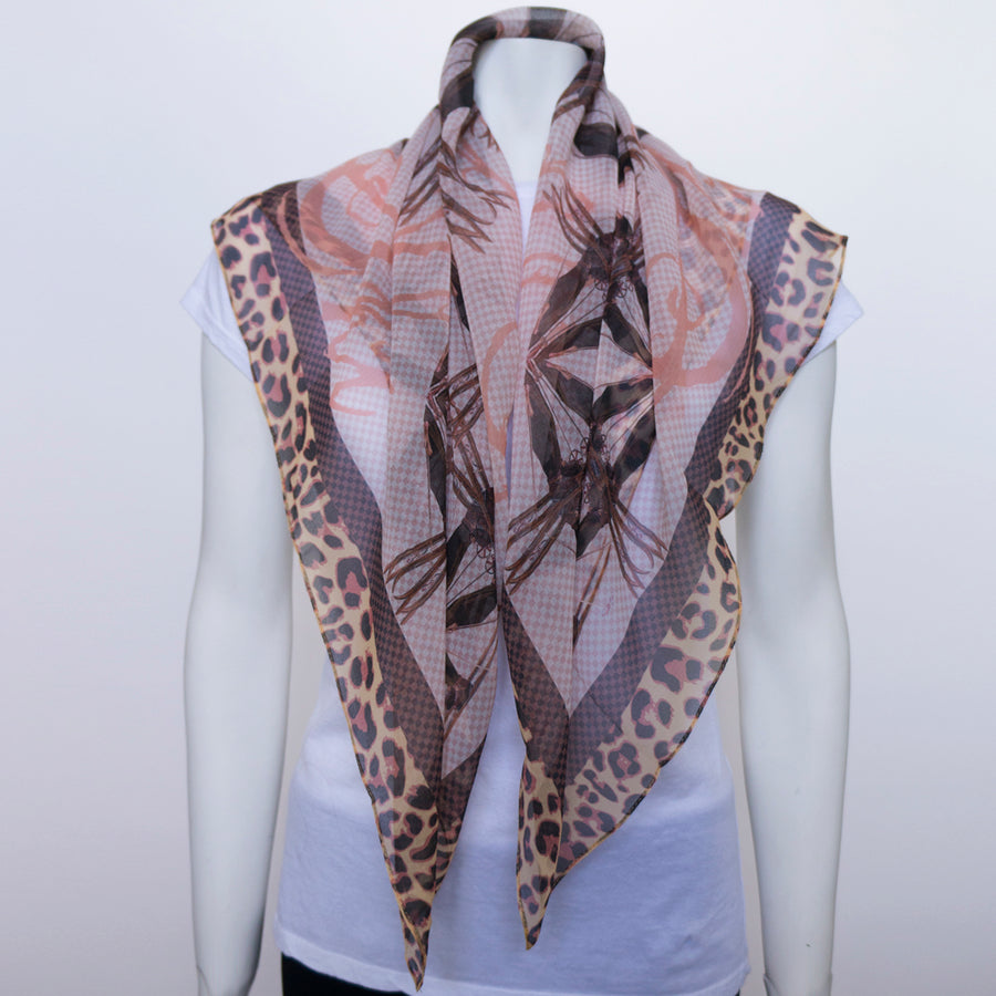 Boot Star Silk Chiffon Scarf